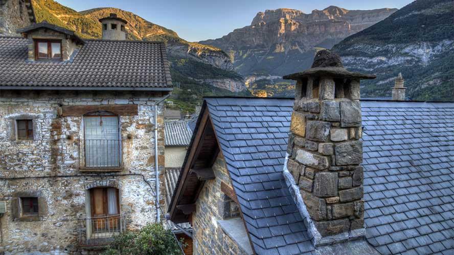 Casas tradicionales de Torla