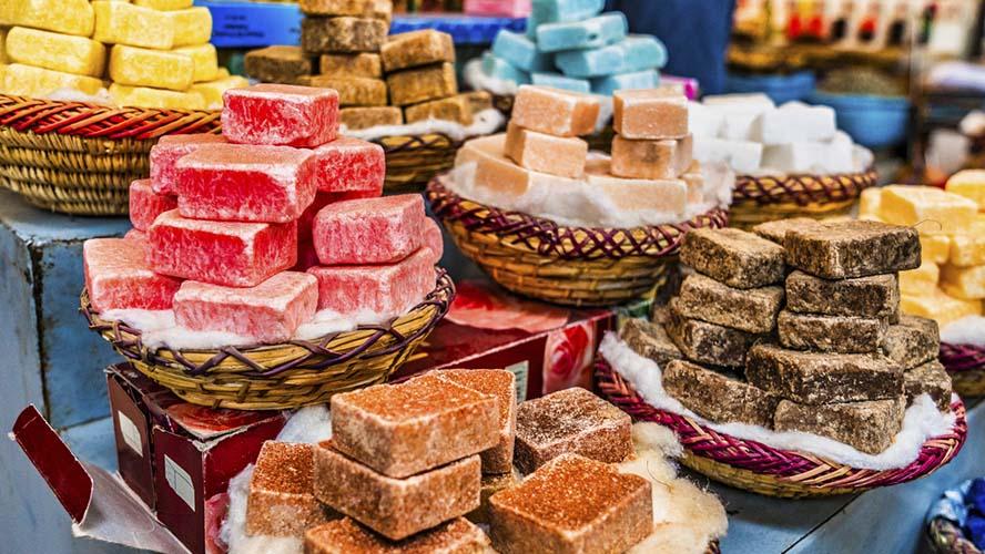 Jabones mercado Marrakech