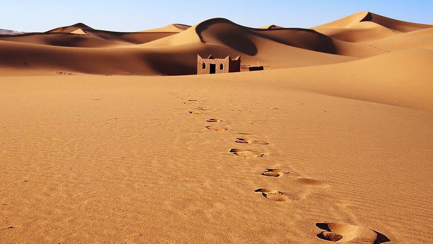 Casa abandonada en el Desierto de Merzouga
