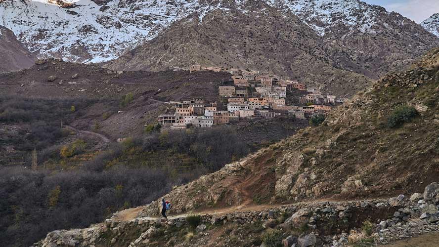 Ruta de ascenso al Monte Toubkal