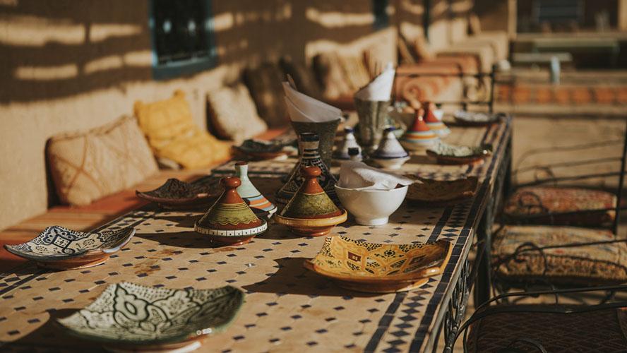 Cena romántica en Marrakech