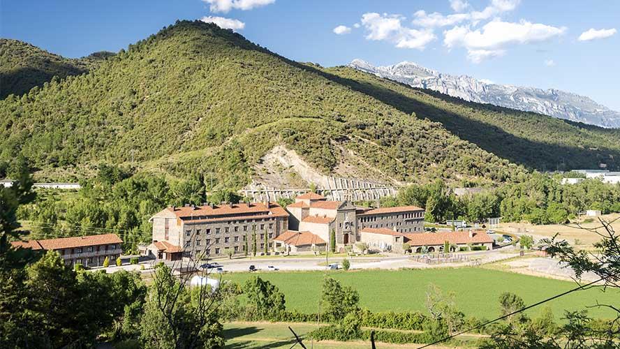 Vistas del Hotel Barceló Monasterio de Boltaña