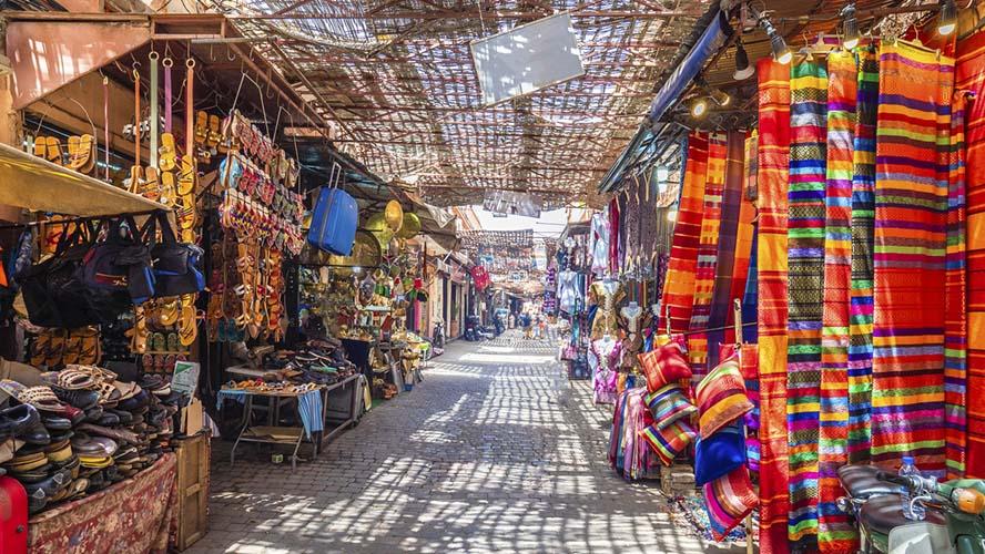 Calles del zoco de Marrakech