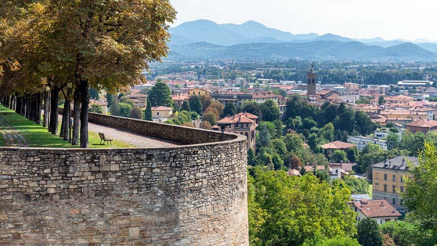 Vistas de la ciudad de Bergamo