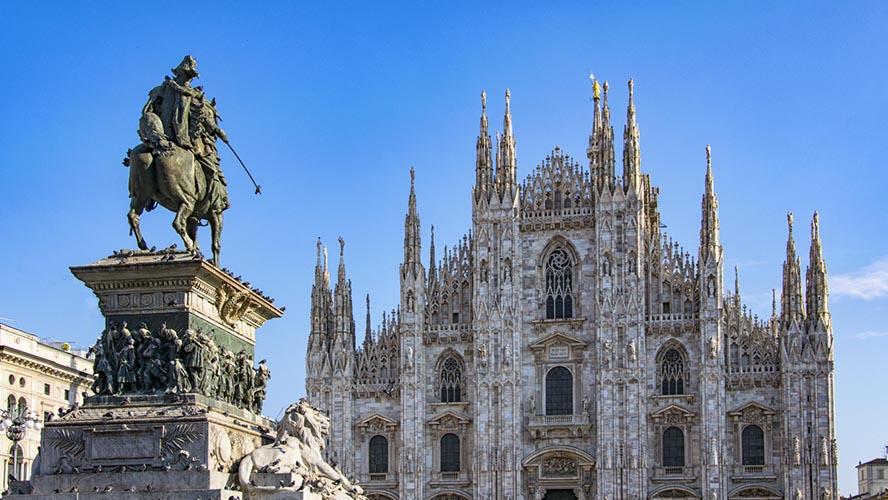 Vistas privilegiadas del Duomo de Milán