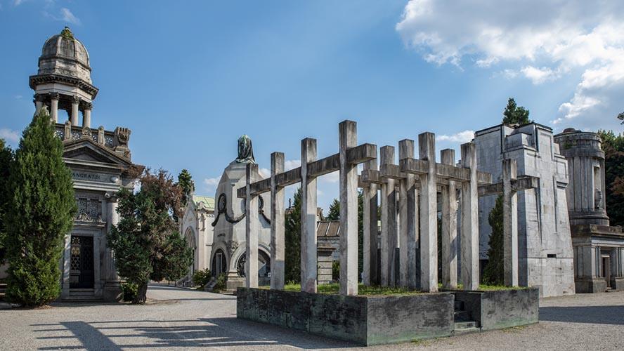 Cementerio de Milán, recorrido