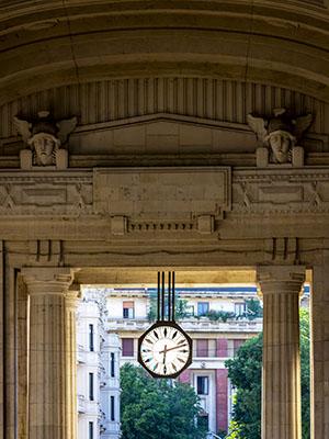 Reloj de la Estación Central de Milán