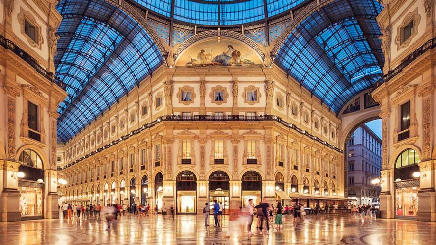 Galería Vittorio Emanuele de noche