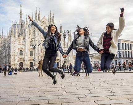 Milán con amigos