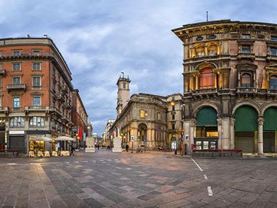 Piazza Mercanti en Milán