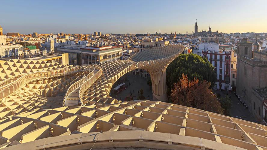 Vistas desde el Metropol Parasol de Sevilla