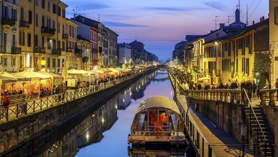 Barrio de Navigli noche