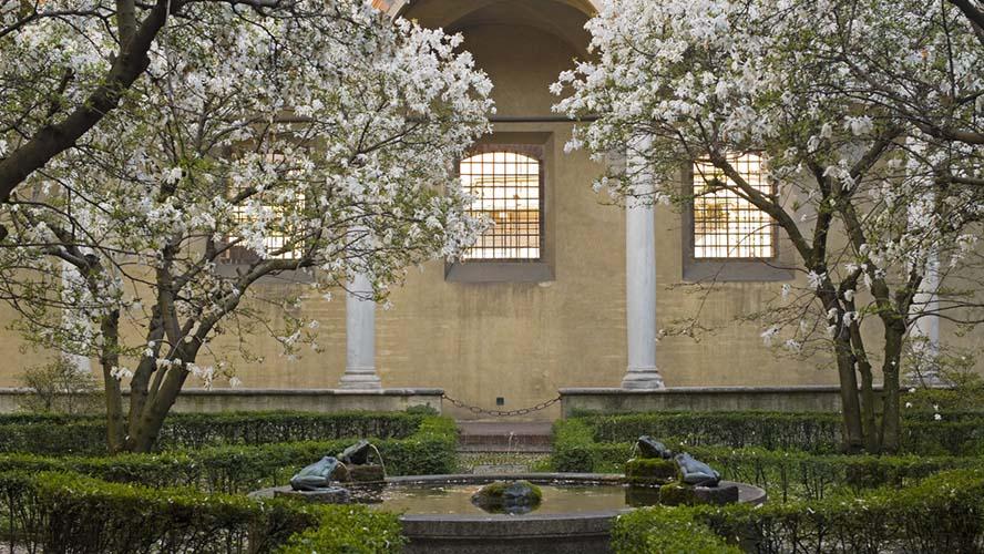 Jardines en el interior de Santa María delle Grazie